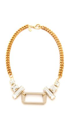 Fallon Jewelry Crystal Hardware Pendant Necklace | SHOPBOP - FashionFilmsNYC.com