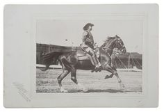 Stacy Photograph of Buffalo Bill on Horseback During a Show