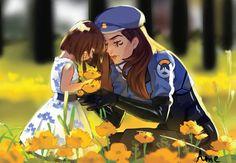 "jessemccree,mccree-""These flowers are so pretty, mom.Credit to artist .《 overwatch jessemccree mccree mcree p Overwatch Comic, Overwatch Fan Art, Overwatch Drawings, Final Fantasy, Overwatch Community, Genji Shimada, Soldier 76, Fanart, Widowmaker"