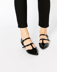 New Look Multi Strap Patent T Bar Point at asos.com. Chaussures  CompenséesCollection De ChaussuresBottes FemmeSandalesChaussures ... 41e1d40c965b