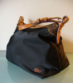 7c9f3b9dfd Dooney   Bourke Large Nylon and Leather Hobo Bag