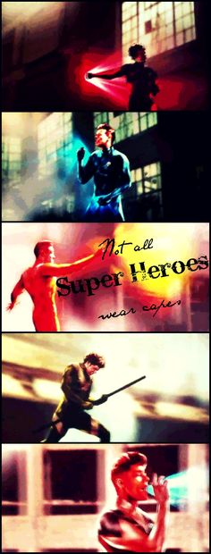 Not all Super Heroes wear capes.... Am I the only one who found it amazing that they did this? During the movie I was just like, This is perfect. :)