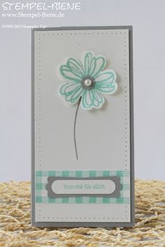 Stempel-Biene, Flower Shop, Gingham, Stampin' Up, Kellnerblock