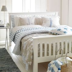 Cool New England-style bedroom | Modern country bedroom ideas | Country Homes & Interiors