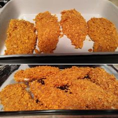 Planet Hollywood Captain Crunch Chicken I used Rice Krispies instead of Corn Flakes