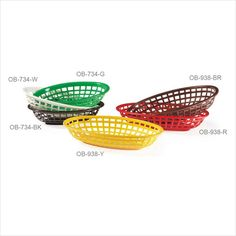 9.5 inch x 6 inch Oval Basket 2 inch Deep Yellow Polycarbonate/Case of 36 Tags:  Food Baskets; Multi Tasking Baskets; Plastic Food Baskets;Plastic Yellow Food Baskets; https://www.ktsupply.com/products/32807344750/95-inch-x-6-inch-Oval-Basket-2-inch-Deep-Yellow-PolycarbonateCase-of-36.html