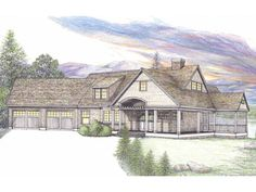 2 story, 2832 square foot, ready-to-build house plan from BuilderHousePlans.com