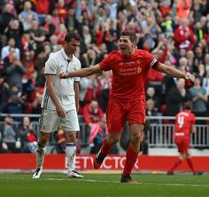 Stevie G scores in front of the Kop once again