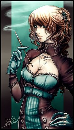 Steampunk Artwork, Characterdesign, Fanart : Isabella by Zackichan.deviantart.com