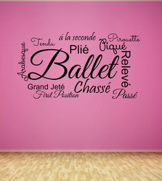 Ballet Decal - Teen Wall Decal - Girls Decal - Dancer Wall Decor - Vinyl Lettering - Princess - Dancing - Dance Studio - Ballet Positions IS YOUR DAUGHTER A BALLERINA?!?!
