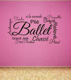Ballet Decal - Teen Wall Decal - Girls Decal - Dancer Wall Decor - Vinyl Lettering - Princess - Dancing - Dance Studio - Ballet Positions IS YOUR DAUGHTER A BALLERINA?!?!