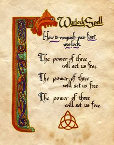 "Book of Shadows:  ""Warlock Spell,"" by Charmed-BOS, at deviantART."