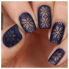 "‍♀️ Hey everybody! It's me, Anja aka @lieve91⠀ ⠀ Welcome to my #MYLtakeover  today I will show you different designs that I created with the MYL plates! I think they are perfect for cold winter days ❄️️ Hope you enjoy this takeover! ⠀ ⠀ I love dark colors! And this dark blue polish called ""I love my blue jeans"" by @essence is one of my favs for winter❤️️ I used a golden Ginger Rust polish for stamping by @moyou_london and for the pattern, I used their plate number 31 from Festive Col..."
