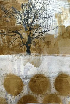 In Between (cardboard packaging with photomtransfer, gesso, acrylic, collage, wax) Ines Seidel