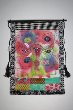 """Joyous Uterus"" by Faye P. Barber Schmuhl from Brandon, WI Collaborative Art Projects, Mixed Media Artwork, Raise Funds, Barber, Fundraising, Art Gallery, Cool Stuff, Board, Artist"