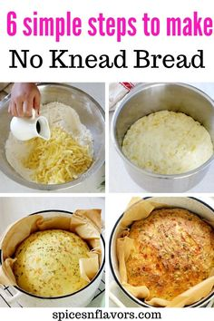 Instant Pot No Knead Bread – Ultimate Guide Instant Pot No Knead Bread flavoured with cheese, rosemary and olive oil is the easiest quick bread Best Instant Pot Recipe, Instant Pot Dinner Recipes, Instant Pot Pressure Cooker, Pressure Cooker Recipes, How To Make Bread, Quick Bread, Flat Bread, Instapot Bread, Pain Artisanal
