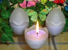 Frosted Ostara Candle Egg ~ Purple - pagan wiccan witchcraft magick ritual supplies