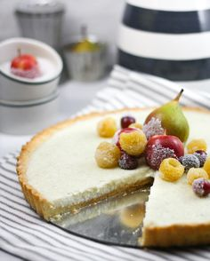 Sprinkle Bakes: White Ricotta Tart wth Sugared Fruit