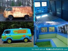 From old and rusty to cool and awesome mystery machine - FunSubstance.com on imgfave