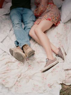 Doing nothing with the one you love...this could be us, me and my chucks, him and his boots :)