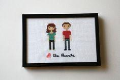 Custom Cross Stitch Couple. $20.00, via Etsy.