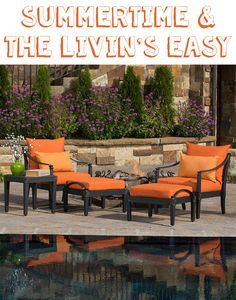 Red Star Traders 5 Piece Chair And Ottoman Set Outdoor Seating