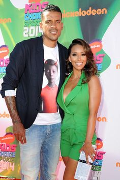 Fight: Memphis Grizzlies player Matt Barnes (left) allegedly drove 95 miles from Santa Barbara to Los Angeles to beat Knicks coach Derek Fisher who is dating Barnes' estranged wife Gloria Govan (right)