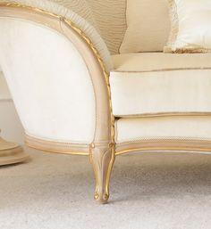 Gold Italian 3 seater sofa