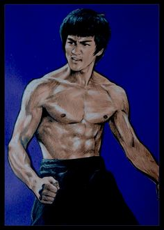 This is An Amazing Drawing Or Painting of Bruce Lee