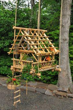 suspended bamboo garden