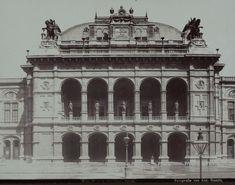 August Stauda, 1., Opernring 2 - Oper - Hauptportal, um 1900 © Wien Museum Portal, Documentary Photographers, Museum Collection, Vienna, Documentaries, Taj Mahal, World, Building, Places