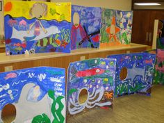 """Group project at an Art Camp. The theme was """"Under The Sea"""". They used this in their Musical performance!"""