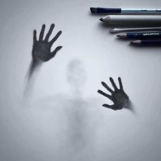Artist Willie Hsu creates haunting shadow art sketches of people and animals that appear as though they're trapped behind frosted glass. Easy People Drawings, Creepy Drawings, Dark Art Drawings, Pencil Art Drawings, Realistic Drawings, Art Drawings Sketches, Simple Drawings, Shadow Drawing, Shadow Art