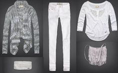 Cozy Grey and White Hollister Outfit