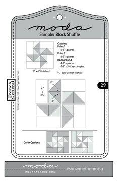 Moda Sampler Block Shuffle  -  Block #  29