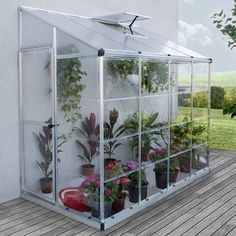Mini serre de jardin adossée Lean To Grow m² - Aluminium et polycarbonate Small Greenhouse, Greenhouse Ideas, Backyard Greenhouse, Lean To Greenhouse Kits, Pallet Greenhouse, Greenhouse Farming, Homemade Greenhouse, Greenhouse Effect, Greenhouse Wedding
