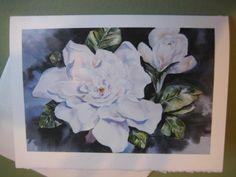 Watercolor Print, Watercolor Paintings, Original Paintings, Watercolors, Glassine Envelopes, Gardenias, Blank Cards, Greeting Cards Handmade, Note Cards