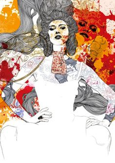 Gabriel Moreno illustration. beautiful combination of line work and color