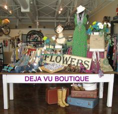We are Deja Vu Boutique!! Check us out on FaceBook!! https://www.facebook.com/DejaVuUpscaleBoutique?ref=hl
