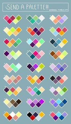 New Art Reference Color Ideas Palette Art, Colour Pallette, Colour Schemes, Color Combos, Best Color Combinations, Color Palette Challenge, Color Psychology, Psychology Facts, Psychology Experiments