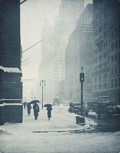 D. J. Růžička - Zimní den na Páté Avenue – New York, 1934