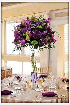 Purple centrepiece