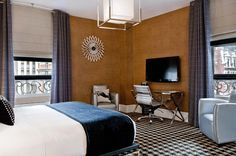 Official Site of The Ameritania Hotel at Times Square NYC Boutique Hotel Room, Boutique Hotels, Holidays In New York, Times Square, New York Hotels, Hospitality Design, Small Rooms, Hotel Offers, Interior Design