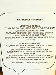 Carta Haloween. Chef: María José Cerezo / Messala Gastrobar. Sevilla