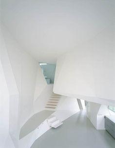 Futuristic Architecture, St. Joseph Single Family House by Wolfgang Tschapeller, minimalistic, futuristic interior design, modern home
