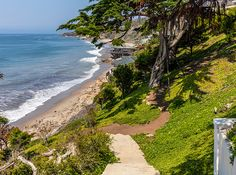 Cindy Crawford's home in Malibu features a private walkway to the beach.
