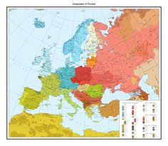 Official linguistic map of Europe. Source: link