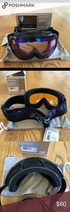 Brand New Giro Amulet women ski goggles Small Brand new with tags Giro Ski snowboarding goggles. Model: Amulet. Seamless compatibility, into-fog lens, triple face-foam, vented lens, Lenses by Zeiss. Fit small to medium face. Original price $120. No trade Giro Other