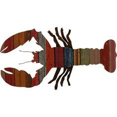 Recycled Maine Lobster Wall Art: Coastal Home Decor, Nautical Decor, Tropical Island Decor & Beach Furnishings product