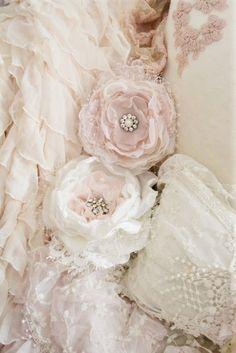 shabby chic fabric flowers: